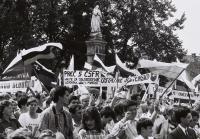 The nationalists are mobilising (Bratislava, February 1990).