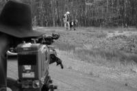 Shooting of the film Krátká dlouhá cesta (Short Long Journey, Germany 2008 – photo by Miro Švolík).