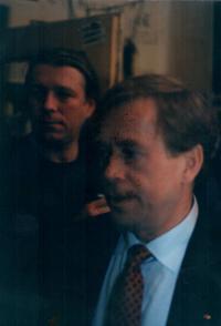 Jiří Chmel s Václavem Havlem