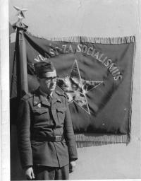 Czechoslovak flag - army service in 1963