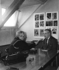 With Jaroslav Foglar in his clubroom