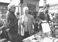With František Plánička and the editor of Domino Slávek Hrzal