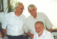 With colleagues Jiri Dienstbier and Jan Petránek