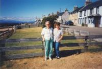 Poslední fotografie matky Denise, Portmahomack, Velikonoce 1996Denise