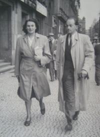 Štefania Lorándová s manželem