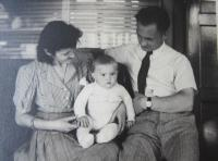Blanka Andělová with parents