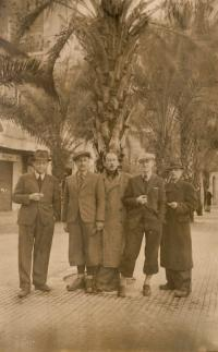Josef Süsser is the second from the right