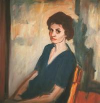 Marie, 1960, 70 x 90 cm, olej