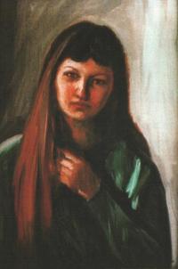 Josefova dcera Jana, olej, 1996, 47 x 40 cm
