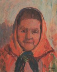 Má matka, 1960, 41 x 31 cm, olej