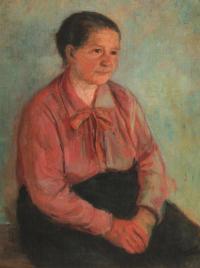 Má matka, 1956, 52 x 79 cm, olej