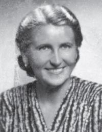 Pamětníkova matka Krista Podzimková