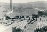 Kruhová cihelna v Třešti 1932