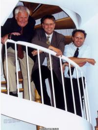Josef Podzimek se svými syny