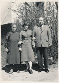 Prababička, teta a pradědeček Petra Kopeckého