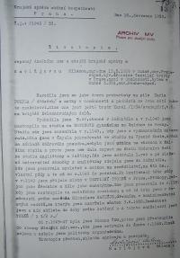 Životopis Havlůjové od StB 1953