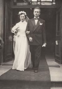 Svatba s Miroslavem Havlůjem, 1950