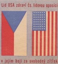 Leták rozšiřovaný Ligou pro lidská práva, jaro 1949