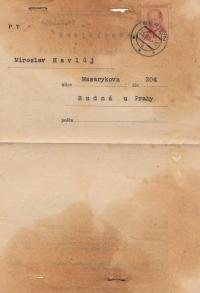 Povolenka k návštěvě, 27. března 1955