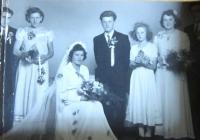 Svatba Marie a Ignáce Žerníčkových v roce 1951