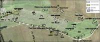Mapa zaniklé osady Štolnava s popisem podle Ignáce Žerníčka