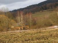 Samota u zaniklé osady Štolnava (Prameny, něm. Stollenhau), kde se lidé z osady ukrývali po vraždě rodiny Kruscheových