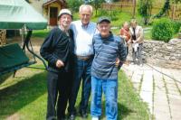 Ignác Žerníček (vpravo) se známými z Německa