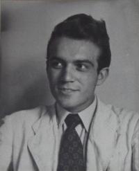 Karel Franta v mládí
