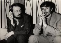 1969, Pilsen, the witness (left) with Juraj Jakubisko during the Finale film festival