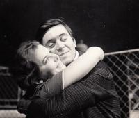 """N.D.1963 ,ze hry F.Pavlíčka, """"Zápas s andělem"""", (J.Abrhám,E.S.)"""
