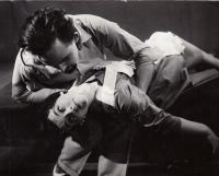"""Krajské divadlo V.Nezvala ,Karlovy Vary,1958,N.Hikmet """"Podivín"""" (J.Bartoš,E.S."""