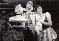 """Divadlo Karlovy Vary,Moliére:""""Don Juan ,1958,(E.S.,J.Bartoš,S.Pejskarová)"""