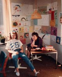 cca 1980, USA, West Virginia,Huntington - Center for Psychology of Youth, working as a children's psychologist