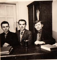 Eva's father Karel Sirotek with his Russian coworkers, USSR, 1937
