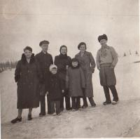 Before leaving the USSR, 1938, parents and their friends