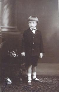 Čtyřletý Jan Kasal
