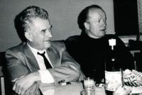 Kasal Jan - vpravo, vlevo skladatel a pedagog František Kovaříček
