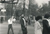 Bohumil Řeřicha (80. léta, prvomájový průvod)