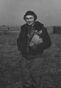 Zbyněk Čeřovský jako pilot 45. dpzlp, 1958
