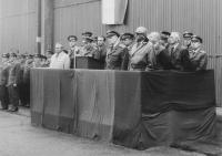 Zbyněk Čeřovský při projevu v rámci rušení 18. sbolp, Pardubice červen 1967