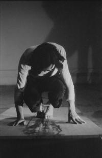 Petr Štembera – Cesta, 1977, záznam z vystoupení, dobová fotografie