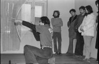 Petr Štembera – Lukostřelec, 1977, záznam z vystoupení, dobová fotografie