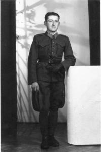 Anton Laššák as a soldier