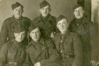 Anton Laššák with friends from a regiment