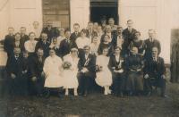 Svatební fotografie rodičů S. Kolíbala