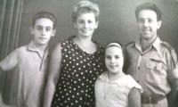 Zachor family photo. From left: son Eli, Shoshana, daughter Michal, Shmuel