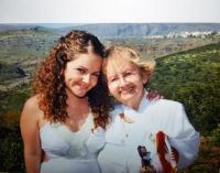 Shoshana with her granddaughter