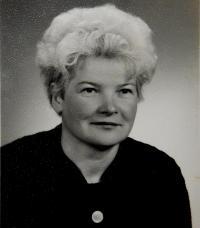 Marie Čuboková (Drozdová) v roce 1966