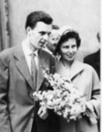 Wedding with Františka Patočková in the 1961