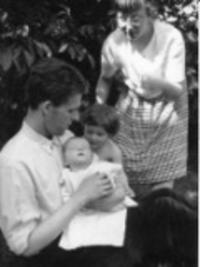 With his family in the 1963